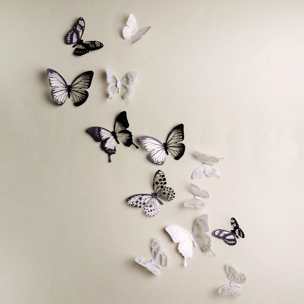 "18 Piece 3D ""Butterflies"" Wall Stickers"