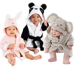 "Cartoon ""Animal"" Hooded Bathrobe"