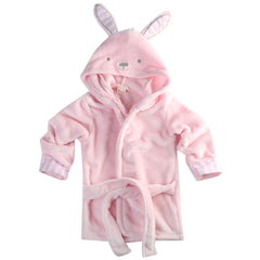 """Cartoonimal"" Hooded Bathrobe"