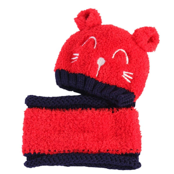 """Happy Bear"" Beanie and Scarf"