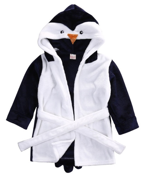 "Animal Hooded ""Fleece-Wrap"" Robe"