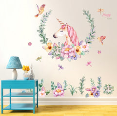 "Multicolor ""Unicorn"" Girls Wall Decal"