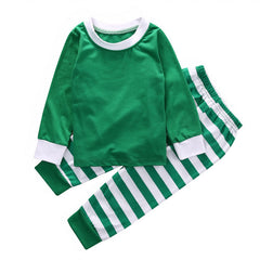 "2 Pieces ""Green/White"" Christmas Sleepwear Set"