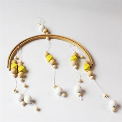 "Nordic ""Wood and Beads"" Baby Mobile"