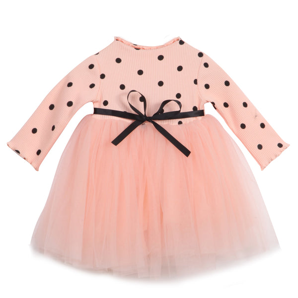 """Tulle and Polkadots"" High-waisted Dress"