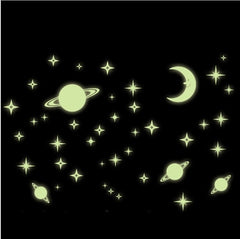 "Luminous ""Starry Night"" Planets Wall Decal"