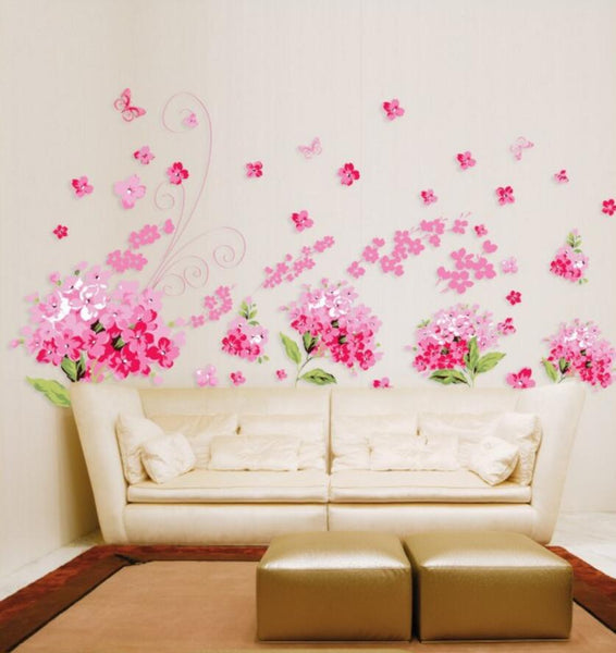 """Flowers In Full Bloom"" Wall Decal"