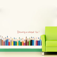 """Drawing A Colorful Life"" Wall Decal"