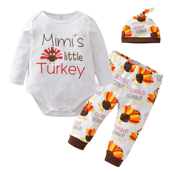 """Mimi's Little Turkey"" 3-Piece Set"