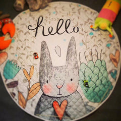 """Hello Bunny"" Play and Go Storage Mat"