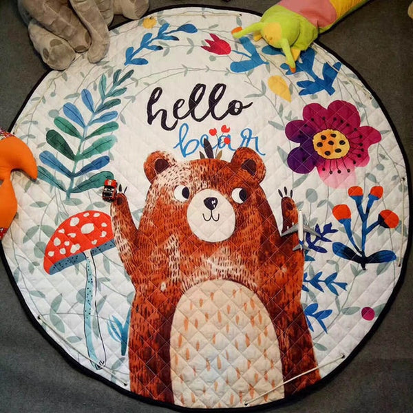 """Hello Bear"" Play and Go Storage Mat"