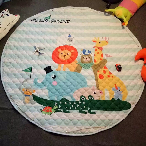 """Zoo Animals"" Play and Go Storage Mat"