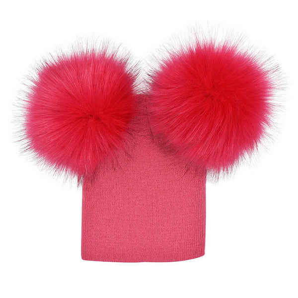 Double Knitted Pom-Pom Beanie