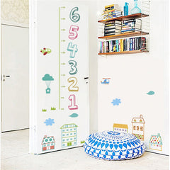 "Multicolor ""Houses And Numbers"" Growth Chart Ruler"
