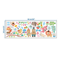 """Forest Animal Party"" Wall Decal"
