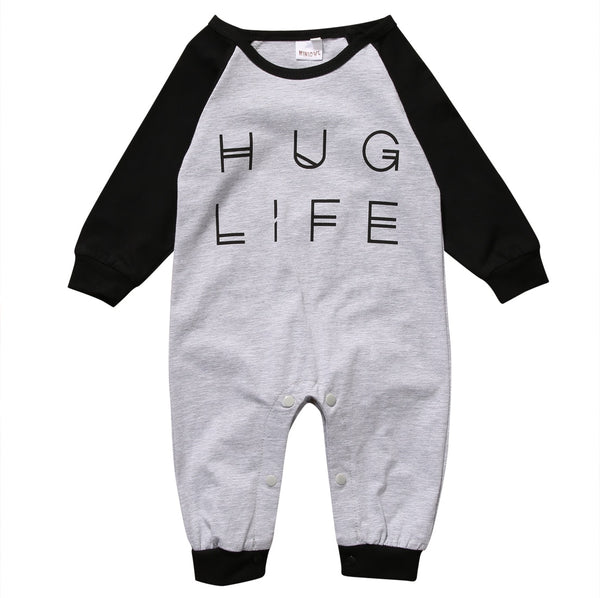 """Hug Life"" Long-Sleeve Romper"