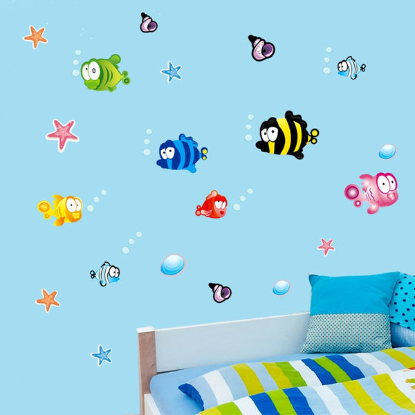"""Underwater Fish"" Wall Decal"