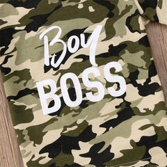 "2 Piece ""Boy Boss"" Camo Set"