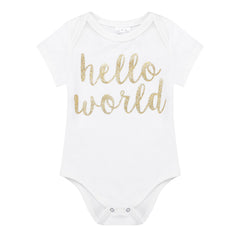 "3 Piece Frilly ""Hello World"" Briefs Set"