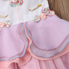 """Lace Unicorn"" Tiered Ball Gown"