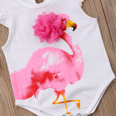 """Flamingo"" Flutter-Sleeve Bodysuit"