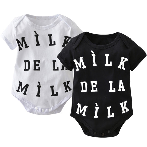 """Milk De La Milk "" Short-sleeve Bodysuit"