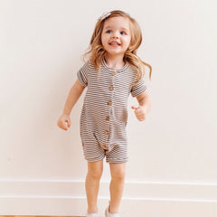 """Button-down"" Summer Romper"