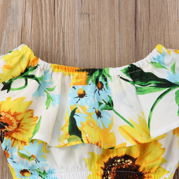 "2- Piece ""Sunflower"" Top and Skirt Set"