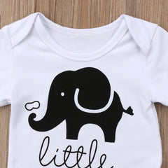 """Little Peanut"" Elephant Short-sleeve Bodysuit"