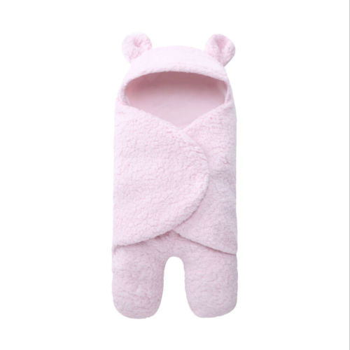 """Swaddle-Me Bear"" Fleece Swaddle Wrap"