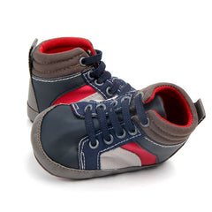 """Red, White and Blue"" High Top First Walkers"