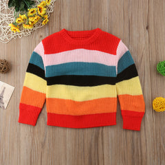 """Rainbow"" Winter Knit Sweater"