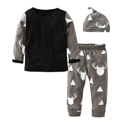 "3 Piece ""Geometric Moose"" Winter Set"