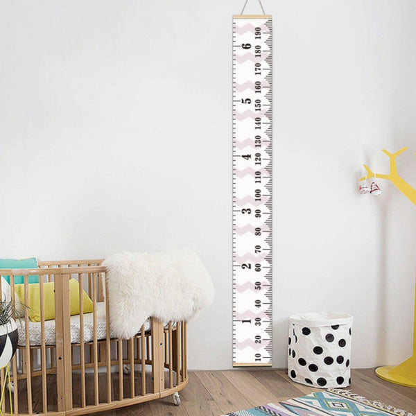 """Nordic"" Growth Ruler Wall Hanging"