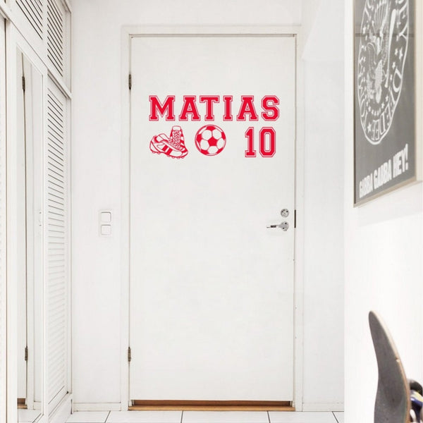 "Custom Name ""Soccer Star"" Boys Wall Decal"