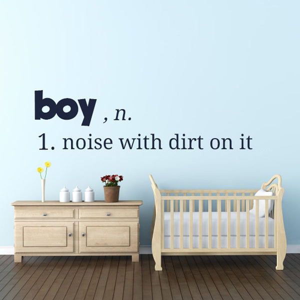 """Boys Are Noise"" Wall Decal"