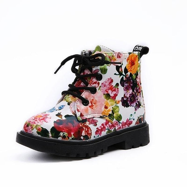 """Flowers"" Rocker-Girl Boots"