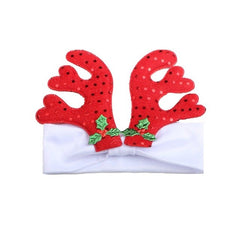 Christmas Gift Deer Baby Headband for Kids Elastic Infant Headbands Deer Snowman Santa Claus Baby Head Band Hair Accessories
