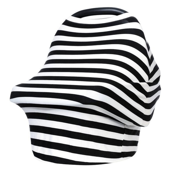 """Black and White"" Striped 5 in 1 Multi Use Cover"