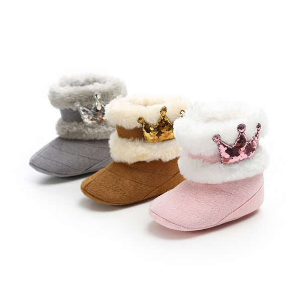 """Crown Princess"" Baby Booties"