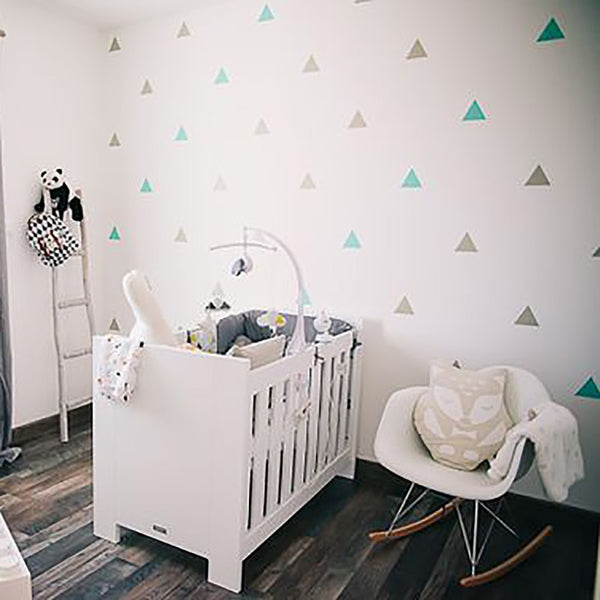 """Triangles"" Solid Colors Wall Decals"