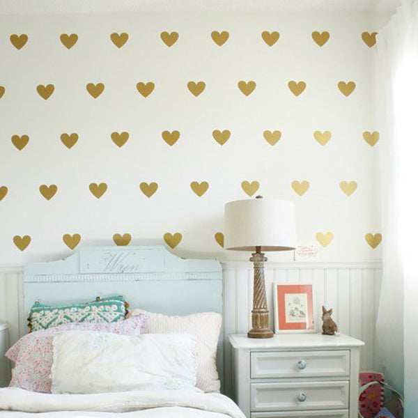 """Hearts"" Solid Wall Sticker Decal"