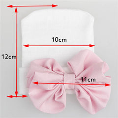 "Newborn ""Ruffle Bow"" Hospital Beanie"