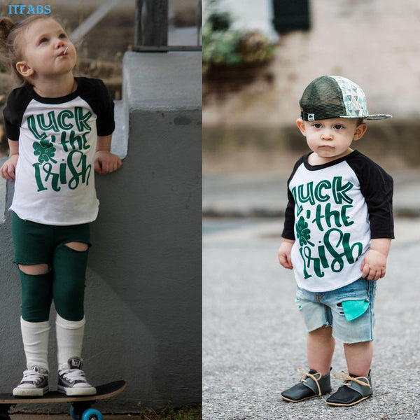 """Luck of the Irish"" Baseball Tee"