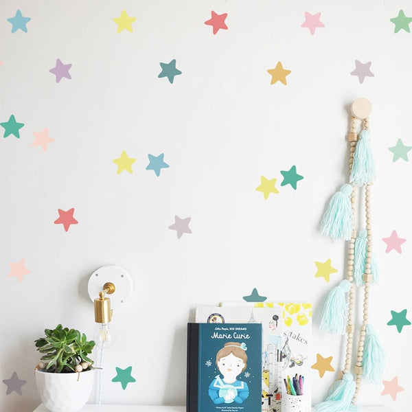 """Rainbow Stars"" Wall Decals"