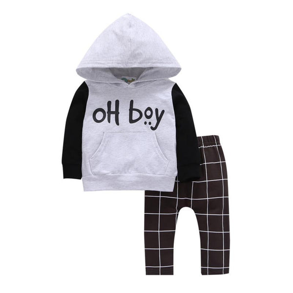 """Oh Boy"" Hooded Sweatset"