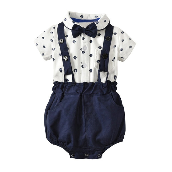 Nautical Print Romper Set