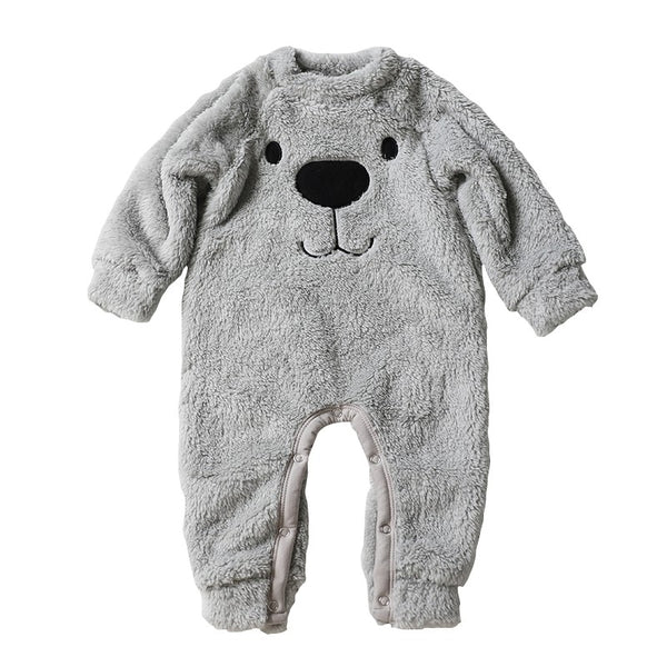 """Bear"" Cartoon Fleece Onesie"