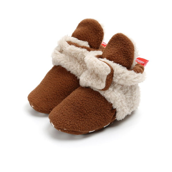 """Moccasin"" Wrap Slipper Booties"