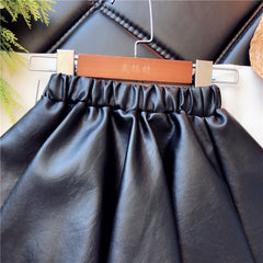 """Bellarina"" Faux Leather KIDS skirt"